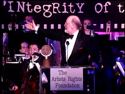 John Williams at the Artist Rights Foundation at the Beverly Hilton in Beverly Hills California on April 17 1998