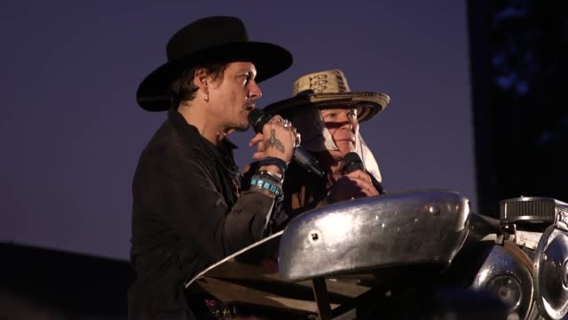 Johnny Depp has joked about assassinating President Donald Trump during an appearance at Glastonbury Festival The Hollywood actor received a rock...