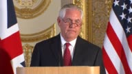 Johnson and Tillerson call for more to be done to help the Rohingya ENGLAND London Foreign and Commonwealth Office INT Rex Tillerson press conference...