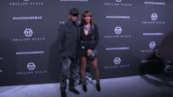 EJ Johnson Sofia Resing Neyo Crystal Renay Carmen Carrera Jazmin Grace Grimaldi and more pose for the press before the Philipp Plein Ready to Wear...