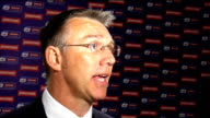 Johnstone's Paint Trophy Final Luton v Scunthorpe Nigel Adkins interview ENGLAND London Wembley INT Nigel Adkins interview SOT Started game well and...