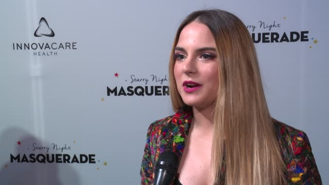 INTERVIEW – JoJo on why it was important that she be here tonight at Daniel E Straus CareOne Starry Night Masquerade For Puerto Rico at Skylight...
