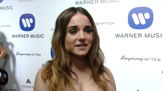INTEVIEW JoJo on why she wanted to celebrate with Warner at Warner Music Group Grammy After Party 2016 in Los Angeles CA
