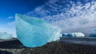 Jokulsarlon beach, Vatnatjokull glacier, South Iceland, Iceland, Europe