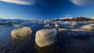 Jokulsarlon glacier lagoon, Vatnatjokull glacier, South Iceland, Iceland, Europe