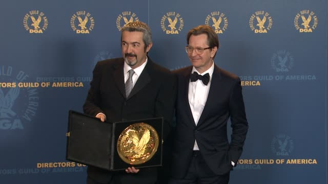 Jon Cassar Gary Oldman at 64th Annual DGA Awards Press Room on 1/28/12 in Los Angeles CA