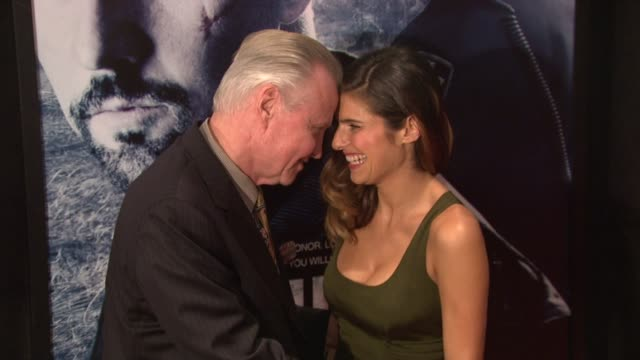 Jon Voight and Lake Bell at the 'Pride and Glory' New York Premiere at New York NY