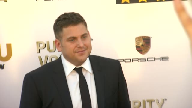 Jonah Hill at 19th Annual Critics' Choice Movie Awards Arrivals at The Barker Hanger on in Santa Monica California