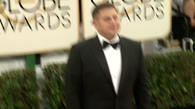 Jonah Hill at the 71st Annual Golden Globe Awards Arrivals at The Beverly Hilton Hotel on in Beverly Hills California