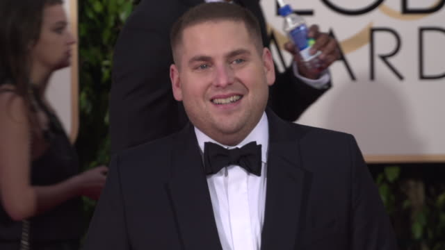Jonah Hill at the 73rd Annual Golden Globe Awards Arrivals at The Beverly Hilton Hotel on January 10 2016 in Beverly Hills California 4K