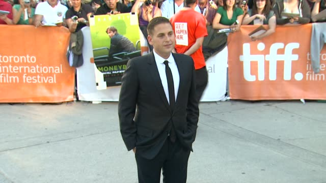 Jonah Hill at the 'Moneyball' Premiere 2011 Toronto International Film Festival at Toronto ON