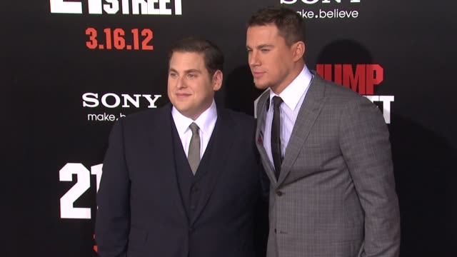 Jonah Hill Channing Tatum at 21 Jump Street Los Angeles Premiere on 3/13/12 in Hollywood CA