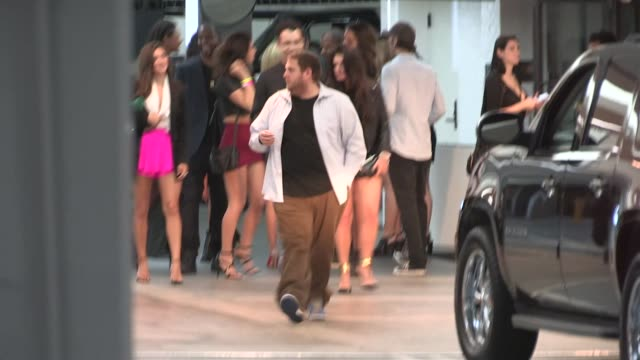 Jonah Hill departs Leonardo DiCaprio's Birthday Party at Soho House in West Hollywood in Celebrity Sightings in Los Angeles