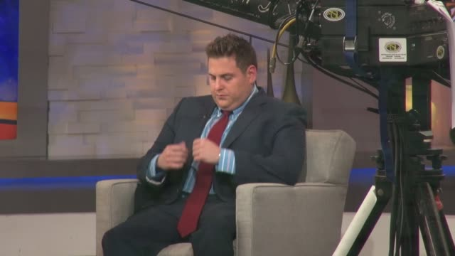 Jonah Hill on the set of the Good Morning America show in Celebrity Sightings in New York
