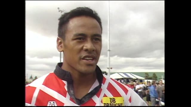 Jonah Lomu interviewed in 1994 after being awarded Player of the Tournament representing Counties at National Rugby Sevens at Palmerston North