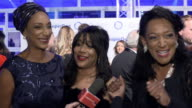 INTERVIEW Joni Sledge Debbie Sledge Kim Sledge Sister Sledge on there new song 'women are the music of the world' supporting Hillary Clinton their...