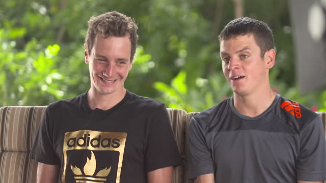 Jonny Brownlee describing how thankful he is for the actions of his brother who gave up the chance of a first place finish at the Triatlon World...