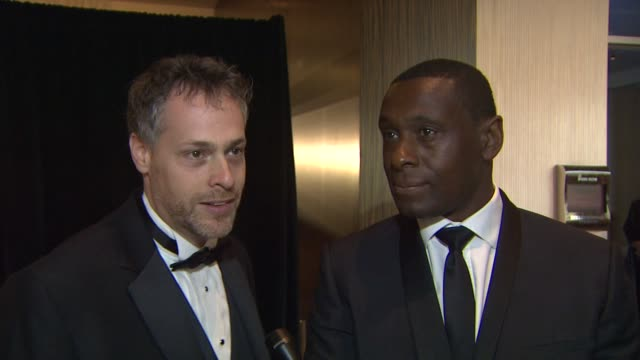 INTERVIEW Jordan Goldman David Harewood 63rd Annual ACE Eddie Awards at The Beverly Hilton Hotel on February 16 2013 in Beverly Hills California