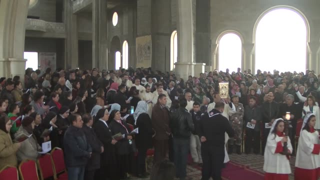Jordanian Catholics attend religious ceremony during their pilgrimage at the Baptismal Site where 2000 years ago Jesus came to be baptized in Amman...