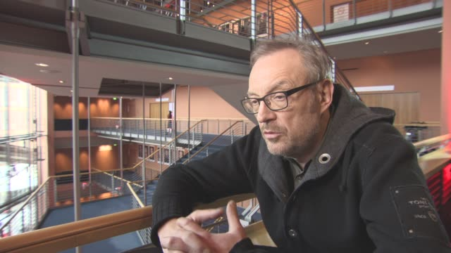 INTERVIEW Josef Hader on changing the script from tragedy to comedy at Berlin Film Festival 'Wild Mouse' Interviews at Berlinale Palast on February...