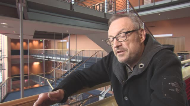 INTERVIEW Josef Hader on his character loosing his job as a critic at Berlin Film Festival 'Wild Mouse' Interviews at Berlinale Palast on February 12...