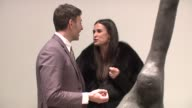 Joseph La Piana and Demi Moore at the Joseph La Piana's 'Kinetic State' Art Exhibition Opening at the Robert Miller Gallery in New York New York on...