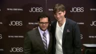 Josh Gad and Ashton Kutcher at 'Jobs' New York Premiere Arrivals at MOMA on August 07 2013 in New York New York