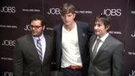Josh Gad Ashton Kutcher and Joshua Michael Stern at 'Jobs' New York Premiere Arrivals at MOMA on August 07 2013 in New York New York