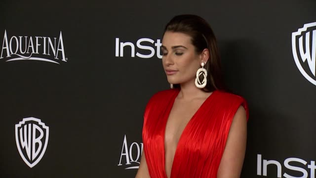 Josh Gad Lea Michele and Jessica Szohr at 16th Annual InStyle And Warner Bros Golden Globe AfterParty on January 11 2015 in Beverly Hills California