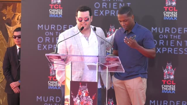 SPEECH Josh Gad Leslie Odom Jr at TCL Chinese Theatre on October 26 2017 in Hollywood California