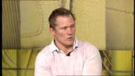 Josh Lewsey interview ENGLAND London GIR INT Lewsey interview SOT When Rugby Union turned professional had to learn best practices from other sports...