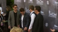 Josh McSwain Matt Thomas Scott Thomas and Barry Knox at the 49th Annual Academy of Country Music Awards Arrivals at MGM Grand Garden Arena on April...