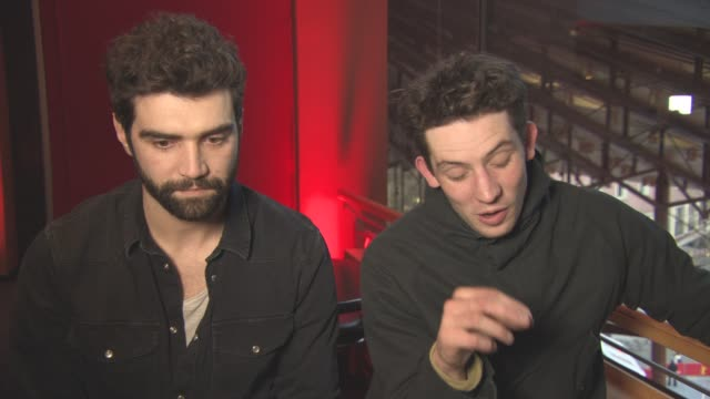 INTERVIEW Josh O'Connor Alec Secareanu on the sex scenes at Berlin Film Festival 'Gods Own Country' Interviews at Berlinale Palast on February 15...