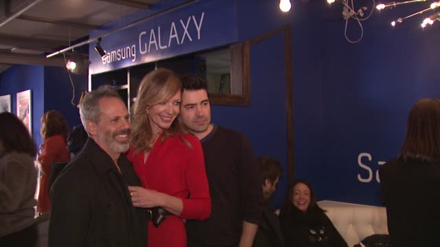 Josh Pais Allison Janney Ron Livingston at Celebrities Visit The Samsung Galaxy Lounge Day 2 on 1/19/13 in Park City Utah