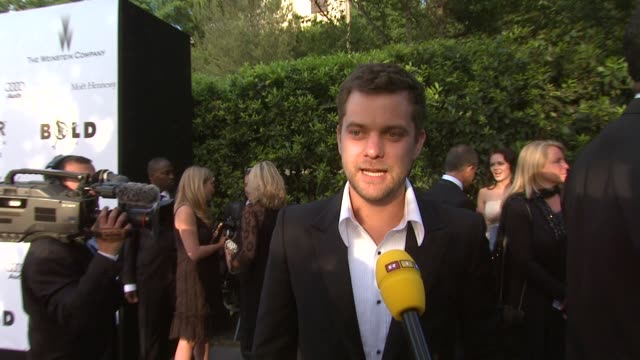 Joshua Jackson on how much he would pay Madonna to sing at the event at the Cannes amfAR's Cinema Against AIDS 2008 arrivals in Cannes on May 22 2008