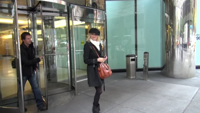 Josie Bissett and boyfriend walking in New York on 10/24/11