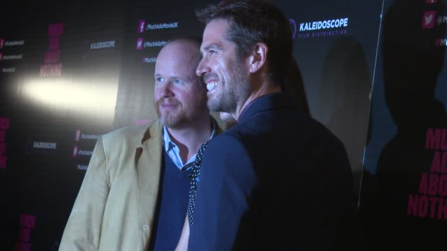 BROLL Joss Whedon Amy Acker Alexis Denisof at 'Much Ado About Nothing' Gala Screening at Apollo Piccadilly Circus on June 11 2013 in London England