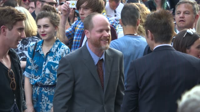 BROLL Joss Whedon at 'Guardians of the Galaxy' UK Film Premiere at The Empire Cinema on July 24 2014 in London England