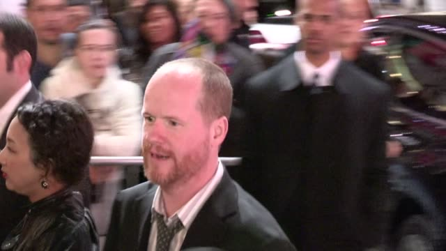 Joss Whedon greets a fan at The Avengers After Party in Hollywood 04/11/12 Joss Whedon greets a fan at The Avengers After Par on April 11 2012 in Los...