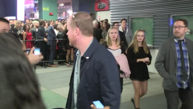 Joss Whedon greets fans at the After Party For The Hunger Games Mockingjay Part 1 in Los Angeles in Celebrity Sightings in Los Angeles