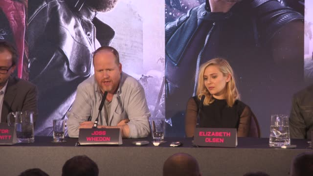 INTERVIEW Joss Whedon on not thinking about the money Marvel Comics films going for sometime at 'Avengers The Age of Ultron' Press Conference at...
