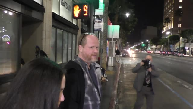 INTERVIEW Joss Whedon talks about Ben Affleck playing Batman outside Katsuya Restaurant in Hollywood in Celebrity Sightings in Los Angeles