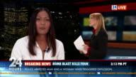 HD: Journalist Reporting Live In Studio