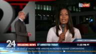 HD: Giornalista Reporting Live In TV le notizie