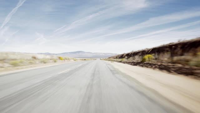 Journey along empty road
