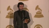 SPEECH Juanes on singing in spanish at The 55th Annual GRAMMY Awards Press Room 2/10/2013 in Los Angeles CA