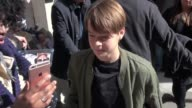 Judah Lewis arrives at AOL and signs for fans in New York City in Celebrity Sightings in New York