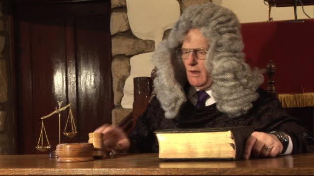 Judge hitting Gavel in  Court  2 - HD & PAL