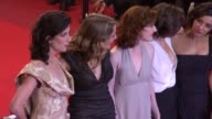 Judith Lou Levy Adele Haenel Alice Barnole Jasmine Trinca and Hafsia Herzi at the L'Apollonide Premiere 64th Cannes Film Festival at Cannes