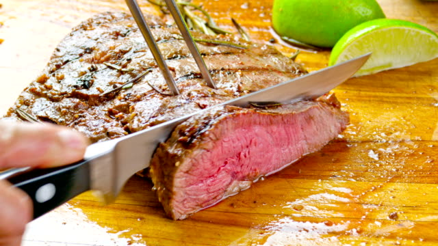 Sappige gegrilde biefstuk
